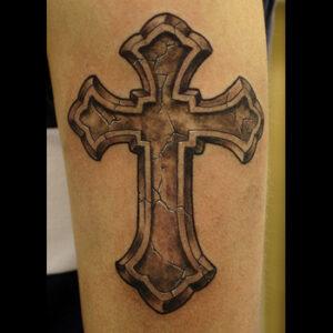 تاتو بدن صلیب ، تاتو زنانه شیک ، tattoo  تهران